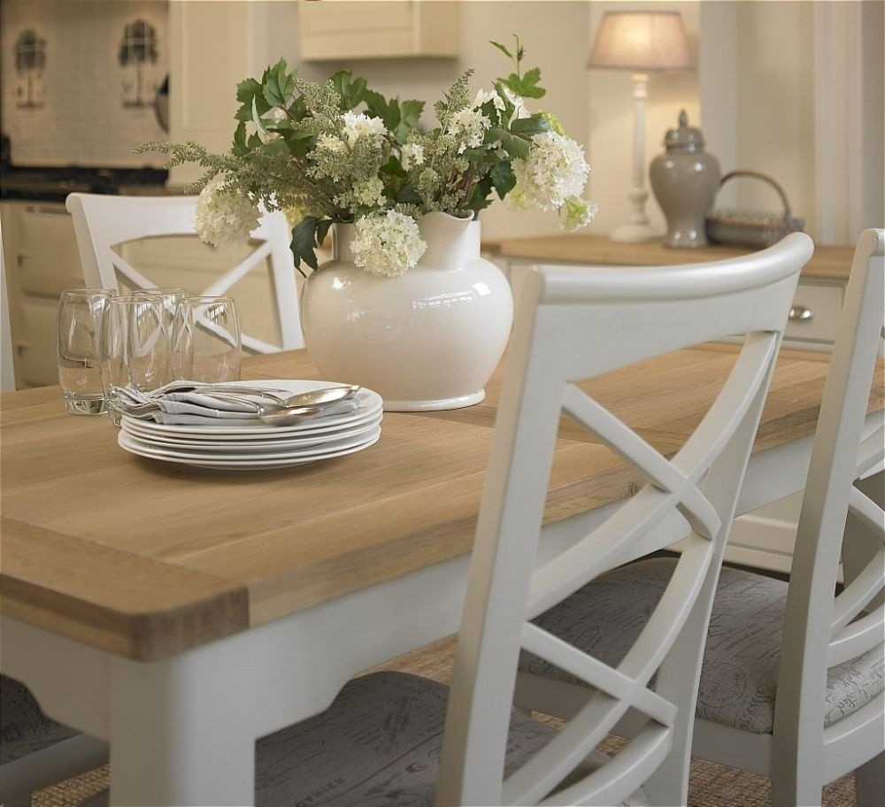 21 Extending Dining Table Sets Uk, Salou Small Extending Dining Intended For Current Round Extending Oak Dining Tables And Chairs (View 11 of 25)