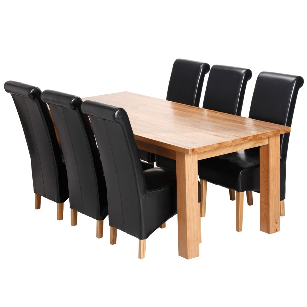 25 Dining Room Table And Chair Set, Solid Wood Dining Room Table And With Regard To Fashionable Ebay Dining Suites (Gallery 7 of 25)