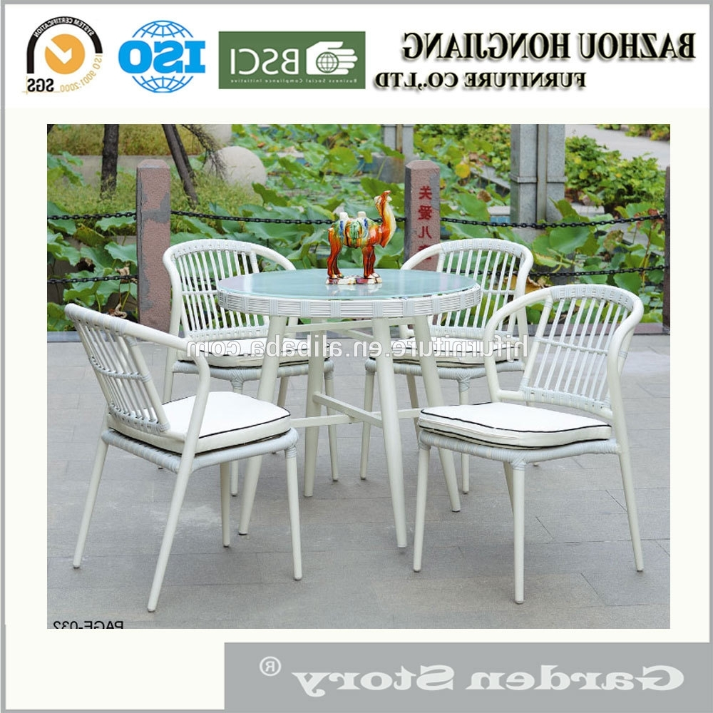 254C 2 Rattan Dining Table And Chairs Of Garden Furniture, View With Trendy Rattan Dining Tables And Chairs (Gallery 23 of 25)
