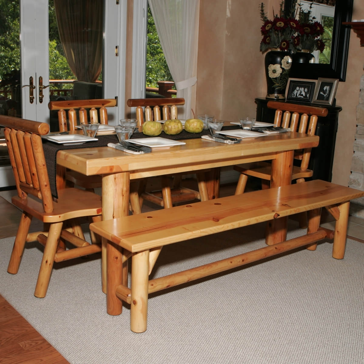 26 Dining Room Sets (Big And Small) With Bench Seating (2018) Throughout Trendy Indoor Picnic Style Dining Tables (View 2 of 25)