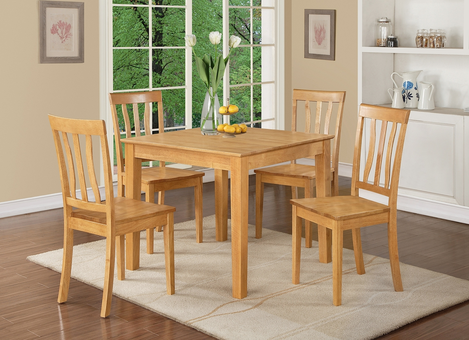 3 Piece Small Kitchen Table And Chairs Set  Square Kitchen Table And Pertaining To Most Popular Kitchen Dining Sets (View 21 of 25)