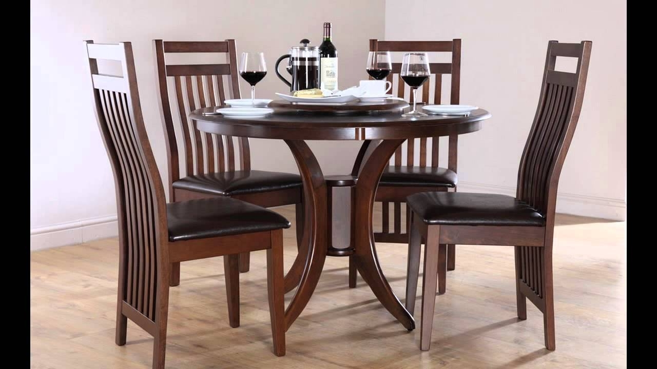 4 Seat Dining Tables In Current Cheap Dining Tables And 4 Chairs – Youtube (Gallery 2 of 25)