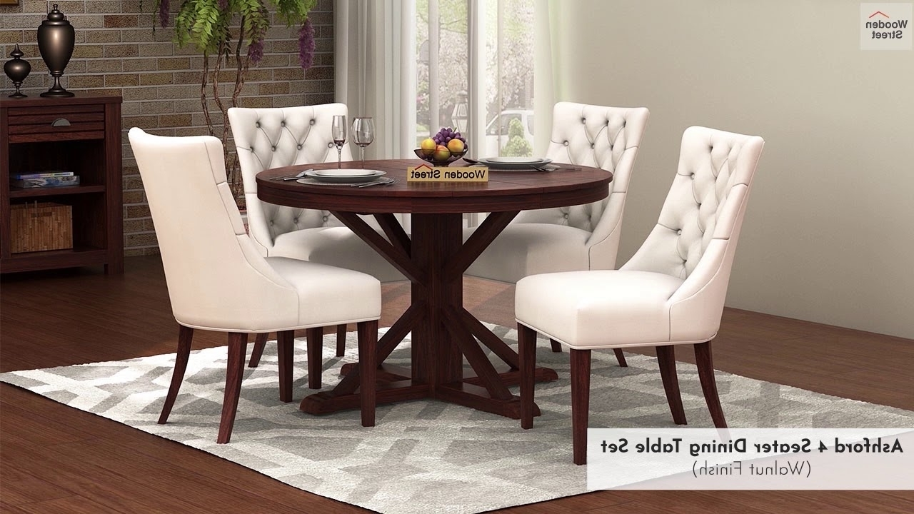 4 Seater Dining Table Set – Buy Ashford 4 Seater Dining Set In Throughout Most Recent Wooden Dining Sets (View 1 of 25)