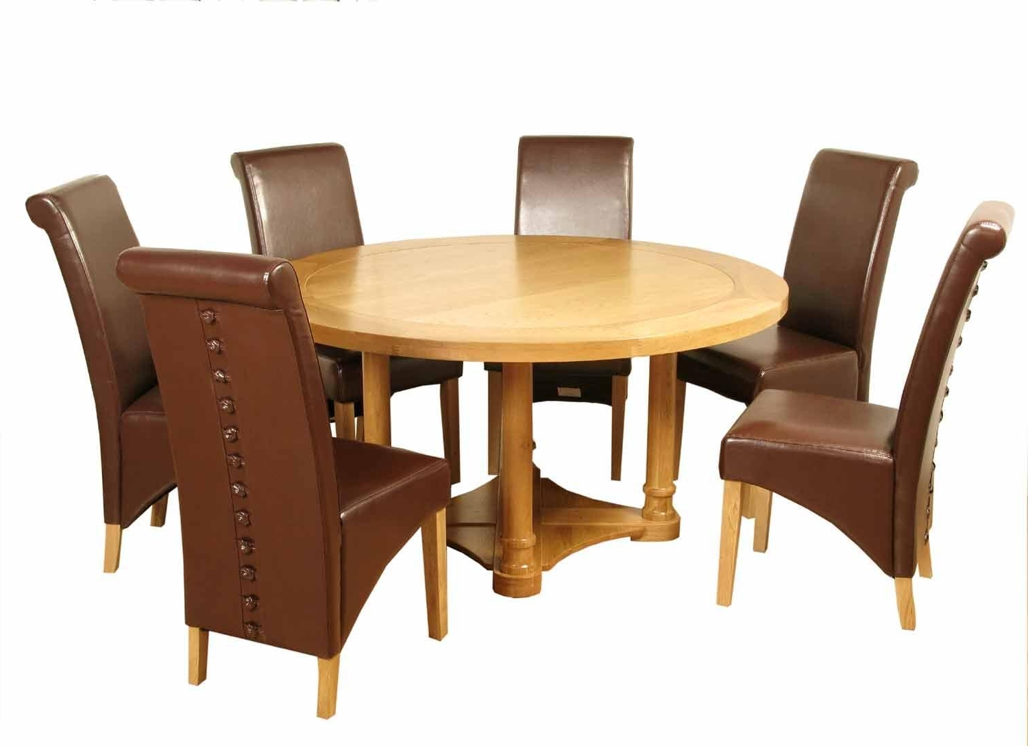 4Ft Rocco Round Solid Oak Dining Set + 4 Chairs – Dublin, Ireland Pertaining To Recent Round Oak Dining Tables And 4 Chairs (Gallery 21 of 25)