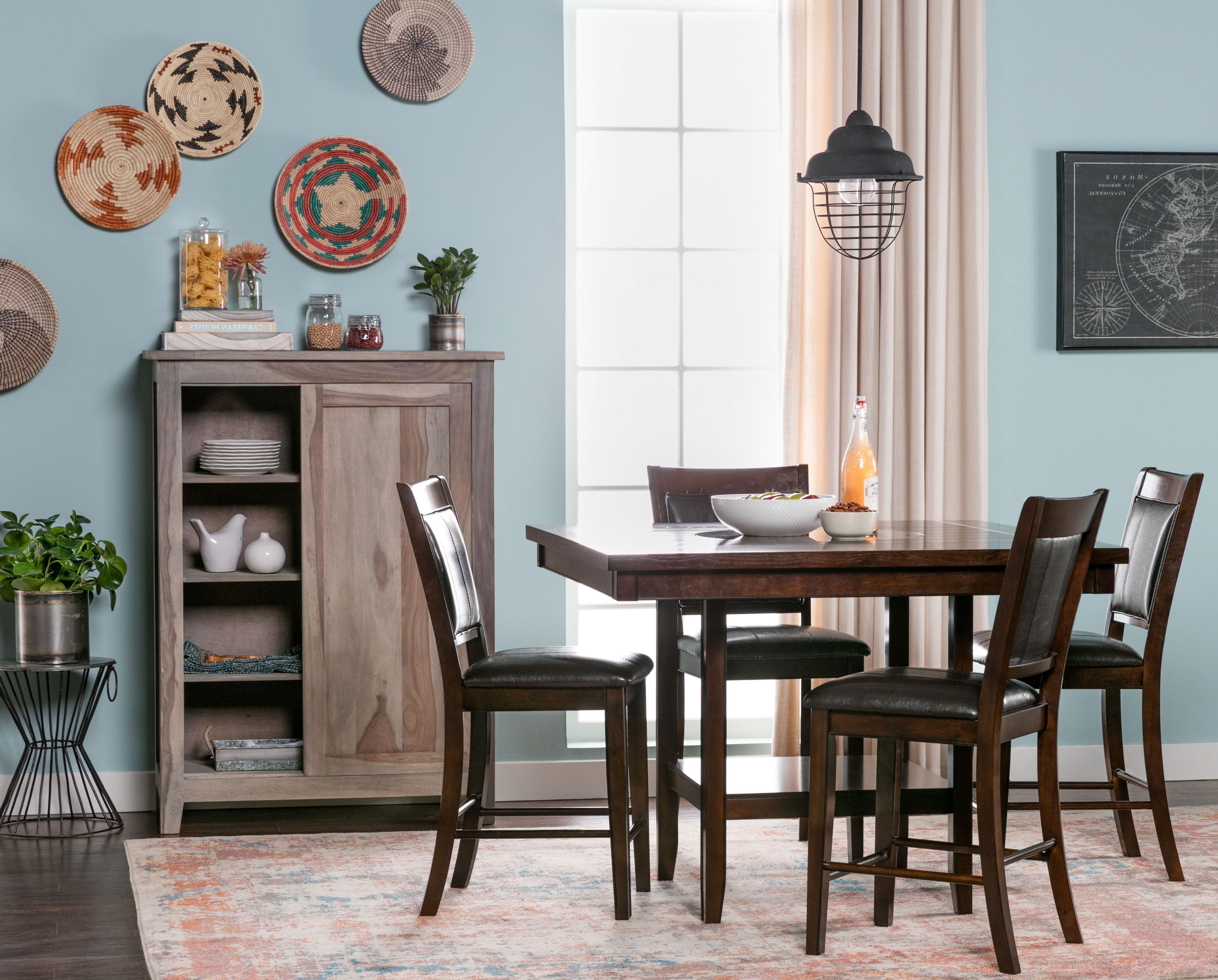 5 Piece Counter Set, Harper, Espresso, Kitchen & Dining Furniture In Most Recent Harper 5 Piece Counter Sets (View 8 of 25)