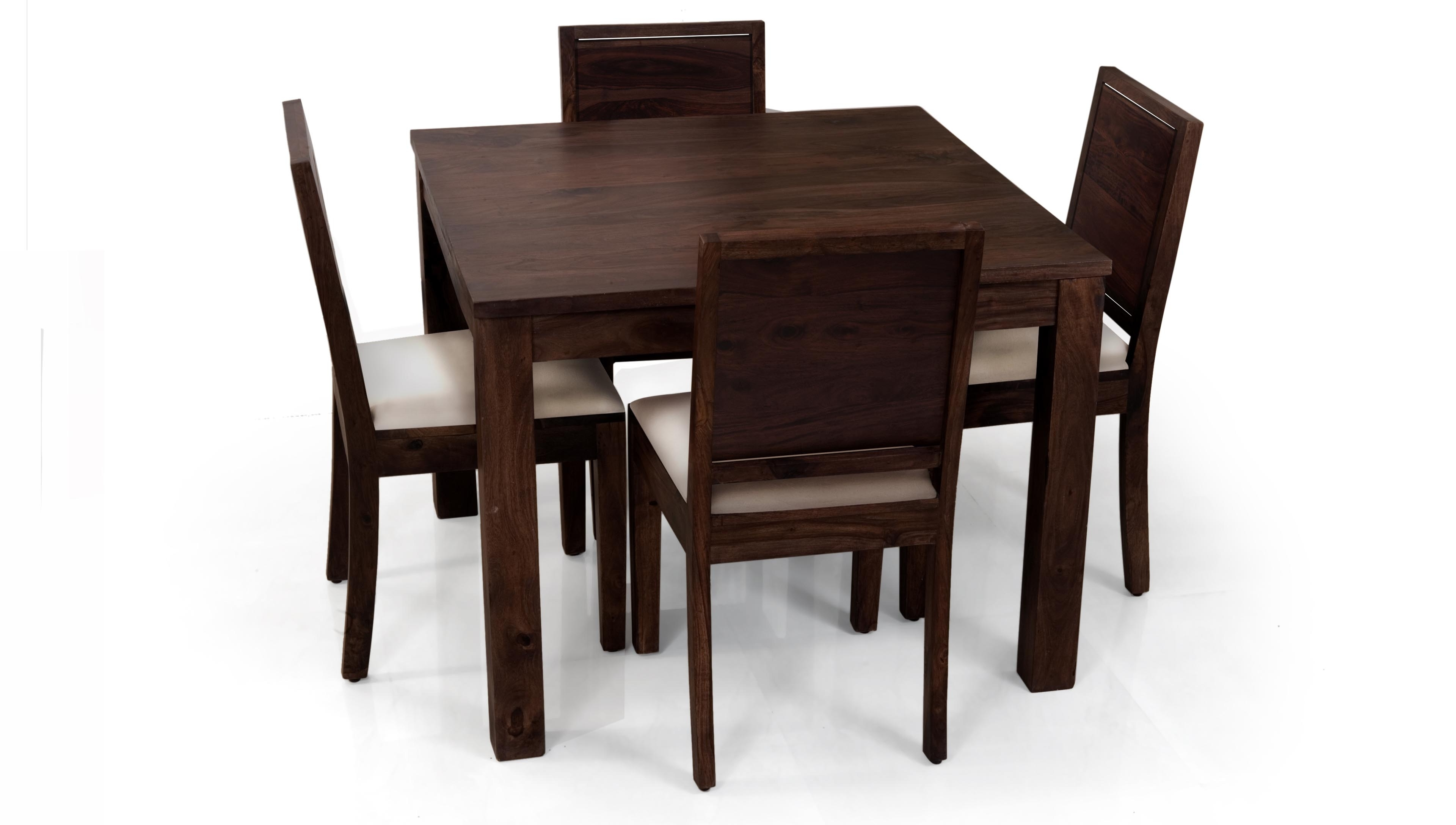 5 Piece Dining Table Set 4 Chairs Wood Kitchen Dinette Solid Oak Intended For Widely Used Small Dark Wood Dining Tables (Gallery 8 of 25)