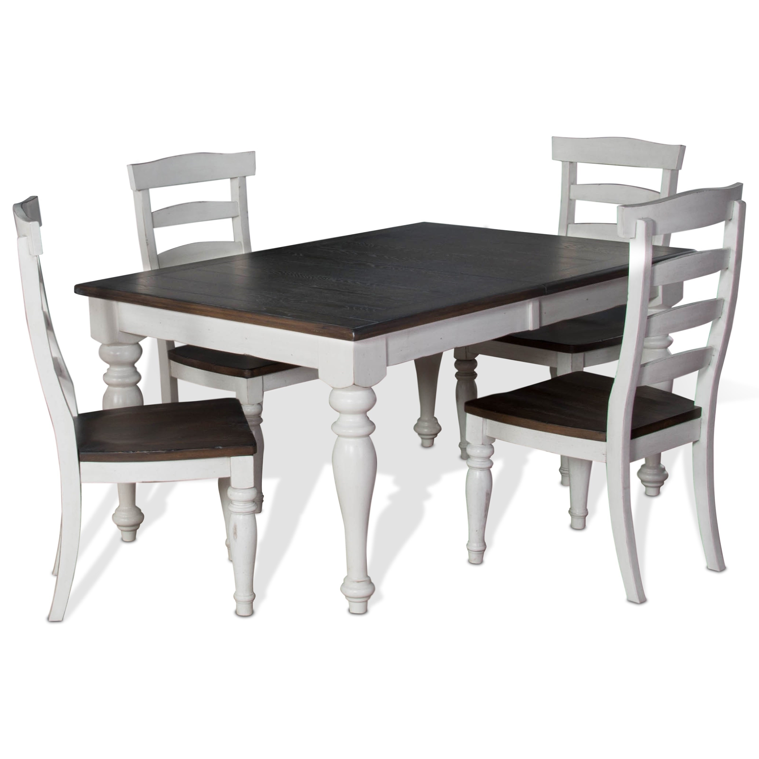 5 Piece Extension Dining Table Set With Ladderback Chairssunny Regarding Preferred Craftsman 7 Piece Rectangle Extension Dining Sets With Side Chairs (View 24 of 25)