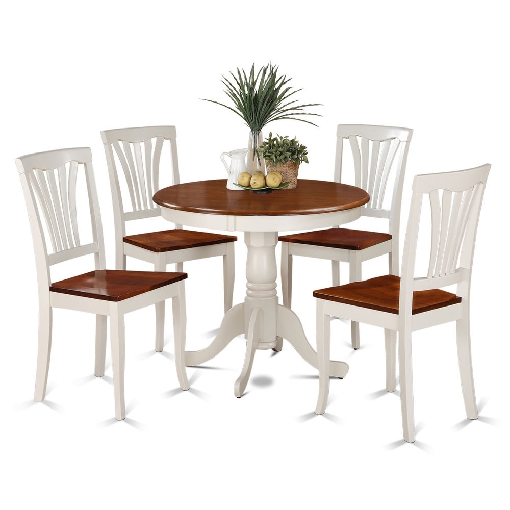 5 Piece Small Kitchen Table And 4 Dining Chairs Ebay Kitchen And Intended For Most Up To Date Dining Chairs Ebay (View 3 of 25)