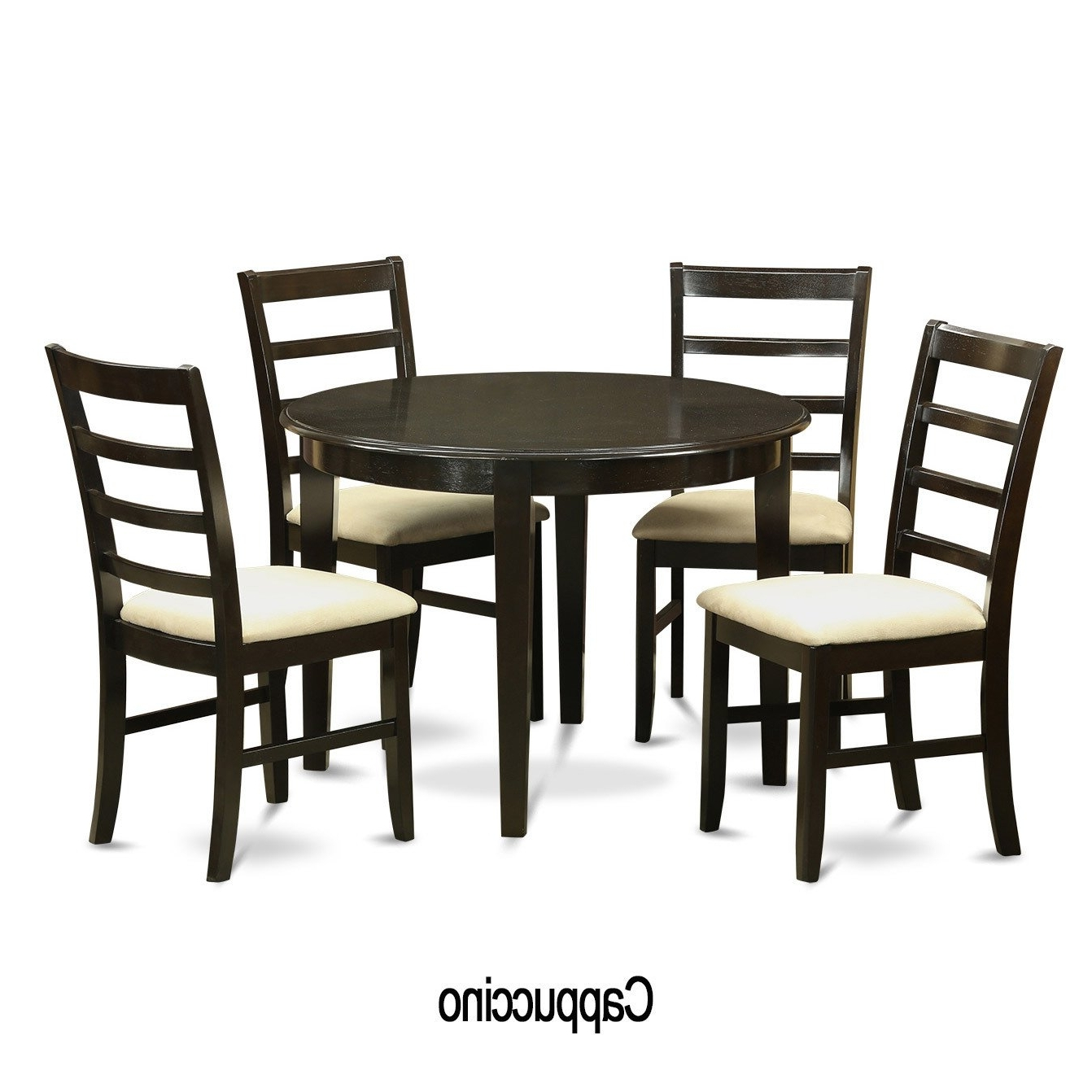5 Piece Small Round Kitchen Table And 4 Dining Chairs – Free Throughout 2017 Small Round Dining Table With 4 Chairs (View 3 of 25)