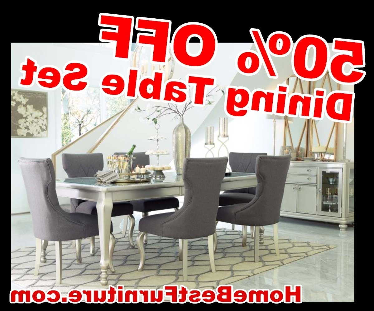 50 Percent Off Discount Silver Coralayne 5-Piece Dining Room Sets within Popular Cora 5 Piece Dining Sets