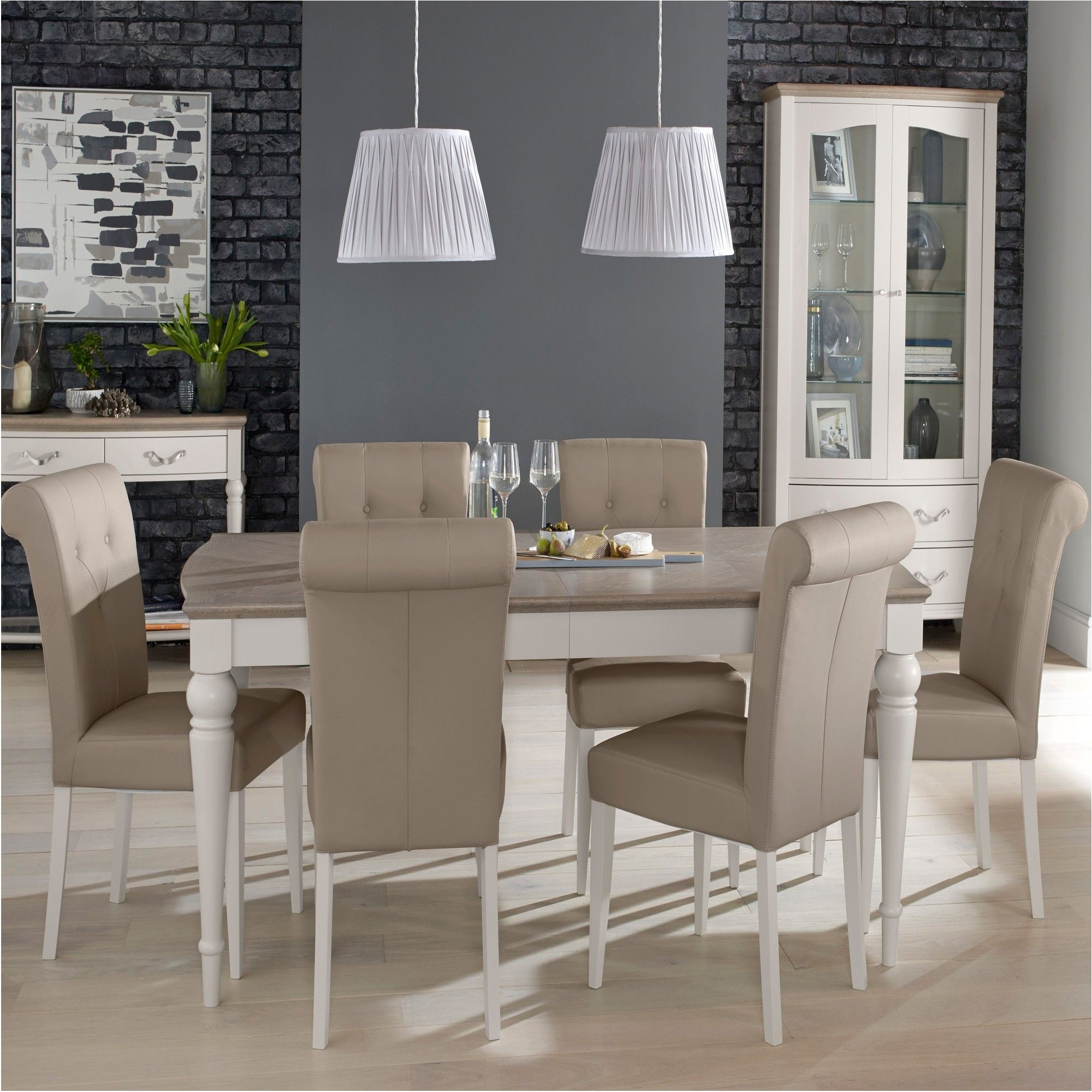 6 Chair Dining Table Sets With Regard To Latest Magnificent Collection Geneva Dining Table And 6 Chairs Dining Sets (View 7 of 25)