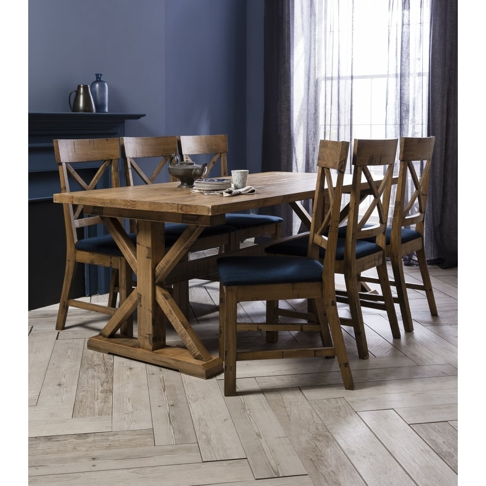 6 Chairs And Dining Tables in Preferred Dining Table And Chairs Canterbury White And Dark Pine