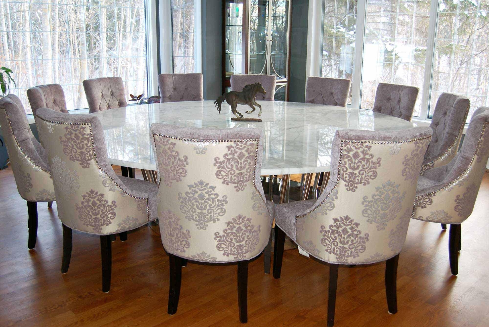 6 Person Round Dining Tables Intended For Recent 12 Seater Round Dining Table And Chairs – Round Table Ideas (Gallery 5 of 25)
