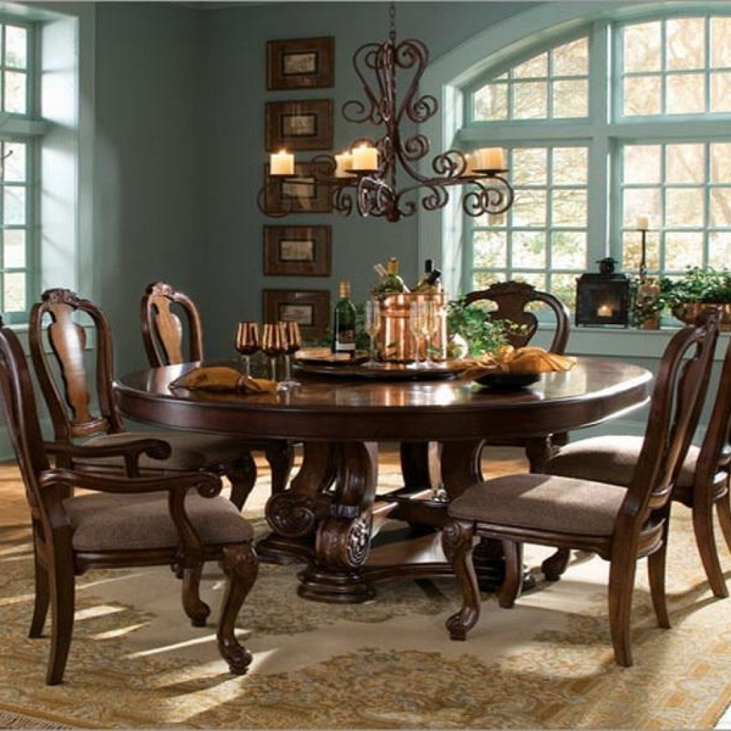 6 Person Round Dining Tables Pertaining To Widely Used Perfect 8 Person Round Dining Table (Gallery 1 of 25)