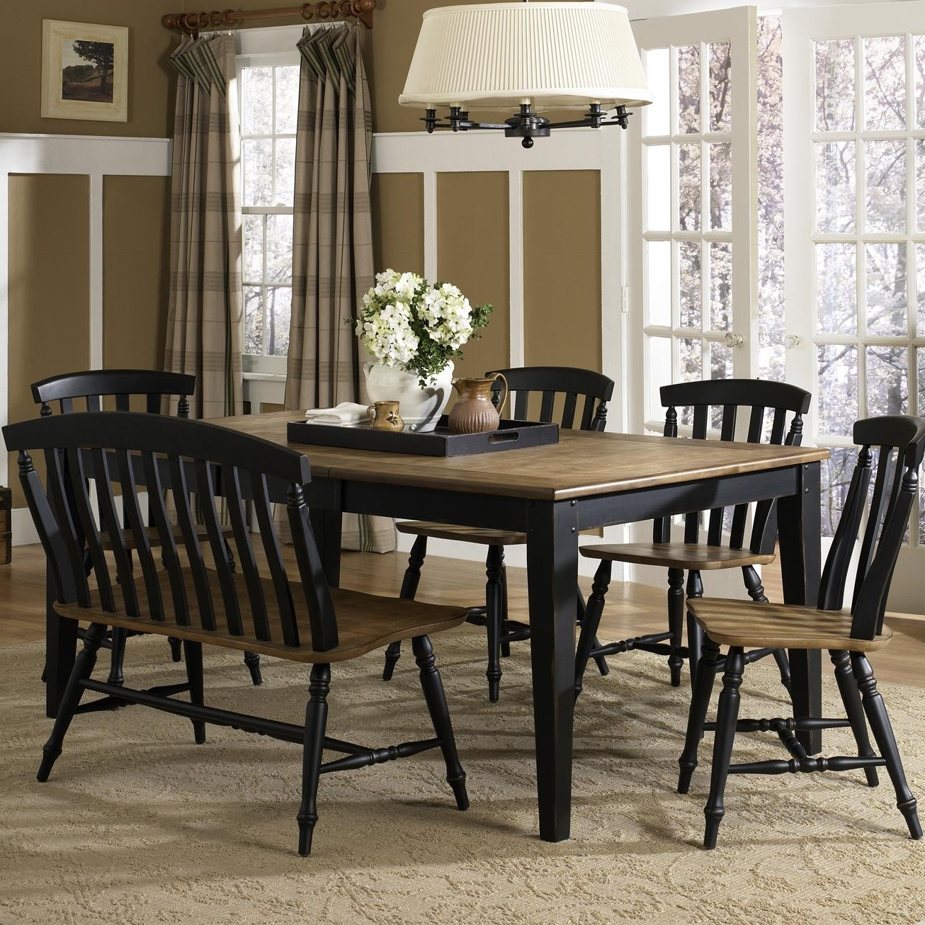 6 Seat Dining Table Sets inside 2017 Liberty Furniture Al Fresco Ii Six Piece Dining Table Set With