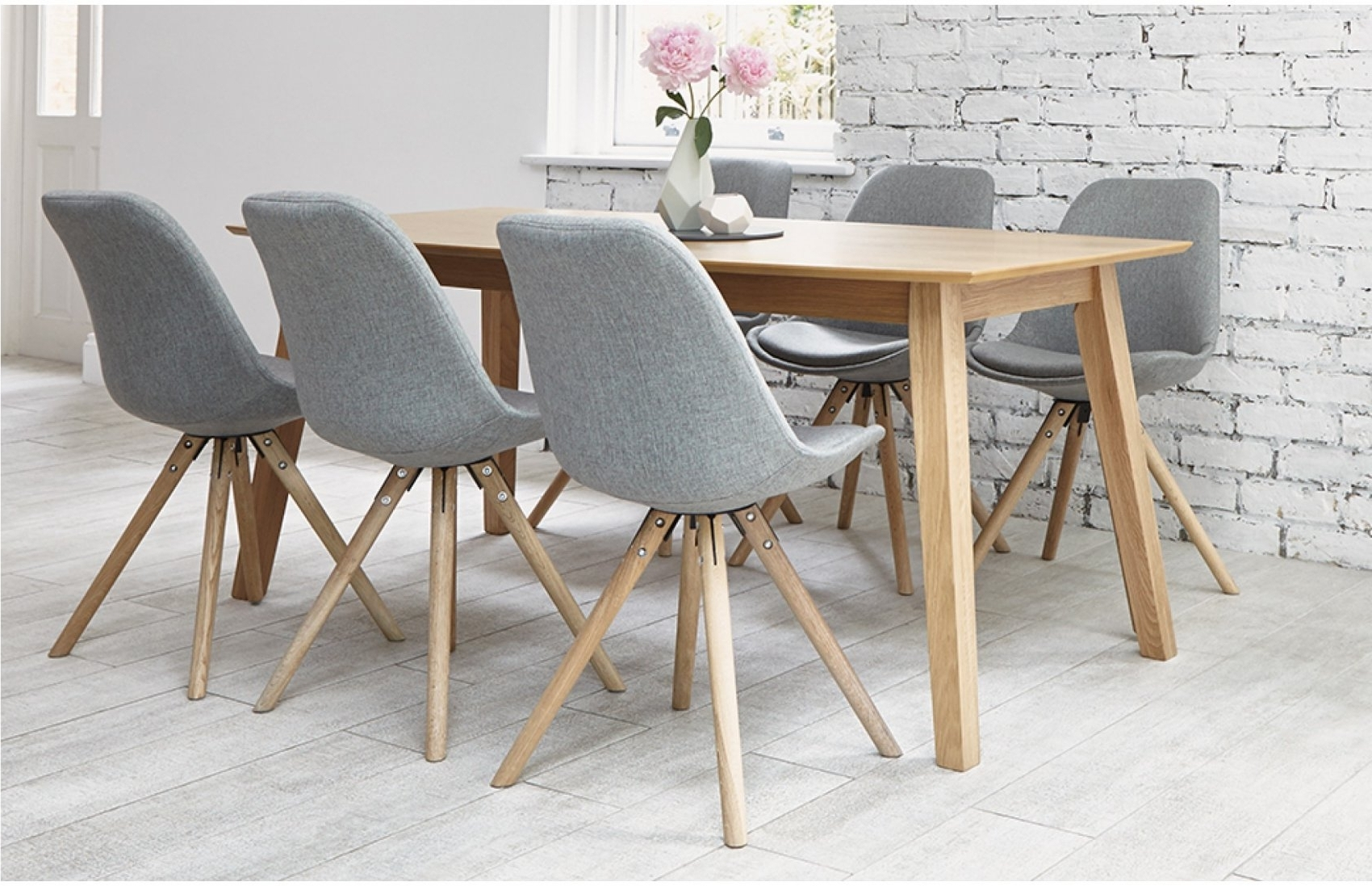 6 Seat Dining Tables regarding Well known 6 Seater Dining Sets Grey Home Furniture Out Out Navy Upholstered