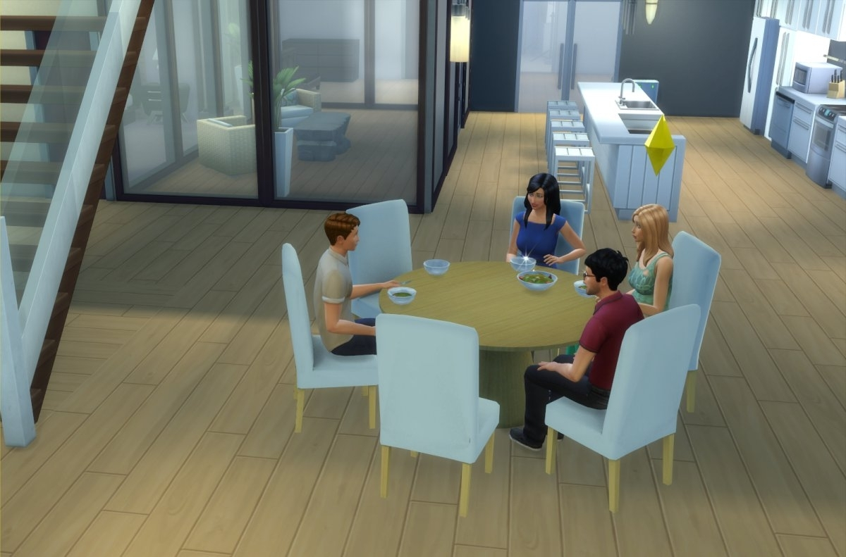 6 Seat Round Dining Tables regarding Popular Mod The Sims - Modern 6-Seater And 8-Seater Round Dining Table And