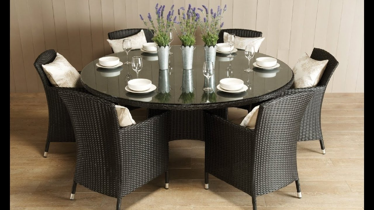 6 Seat Round Dining Tables with Most Current Awesome Round Dining Room Table For 6 - Youtube