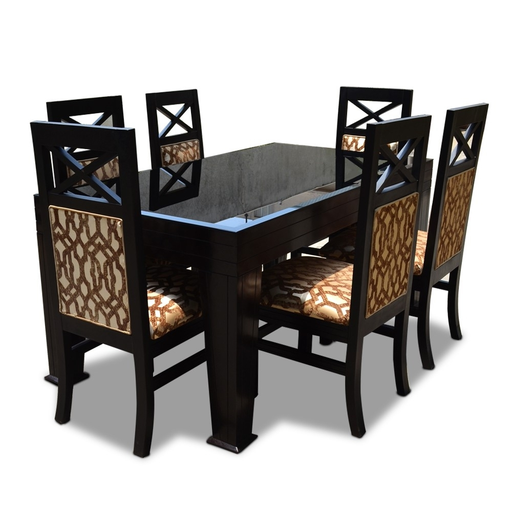 6 Seater Dining Tables within Well known La Rosa Six Seater Dining Table Set - 6 Seater Dining Table Sets