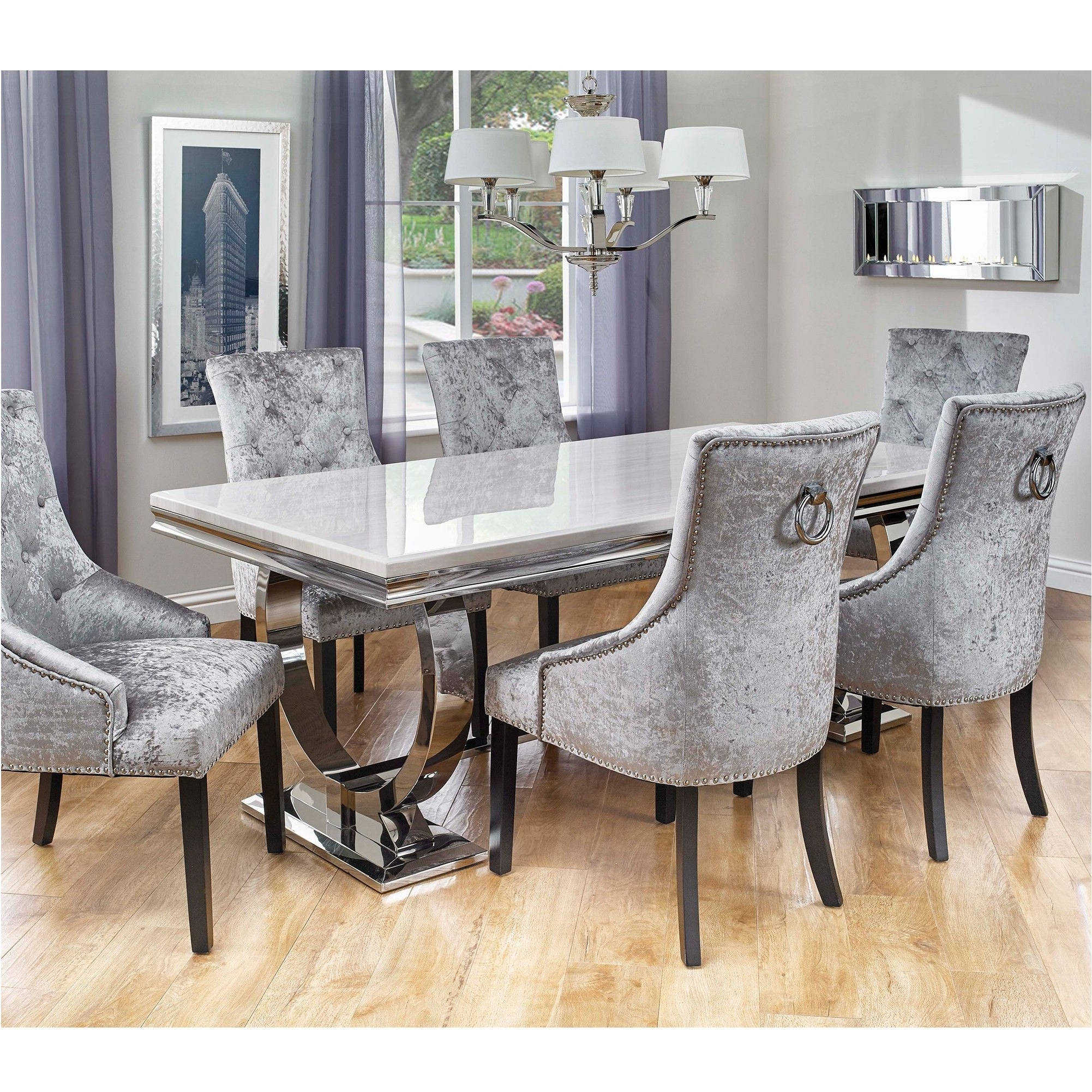 6 Seater Round Dining Tables Inside 2017 Marvelous 6 Chair Dining Table (Gallery 13 of 25)