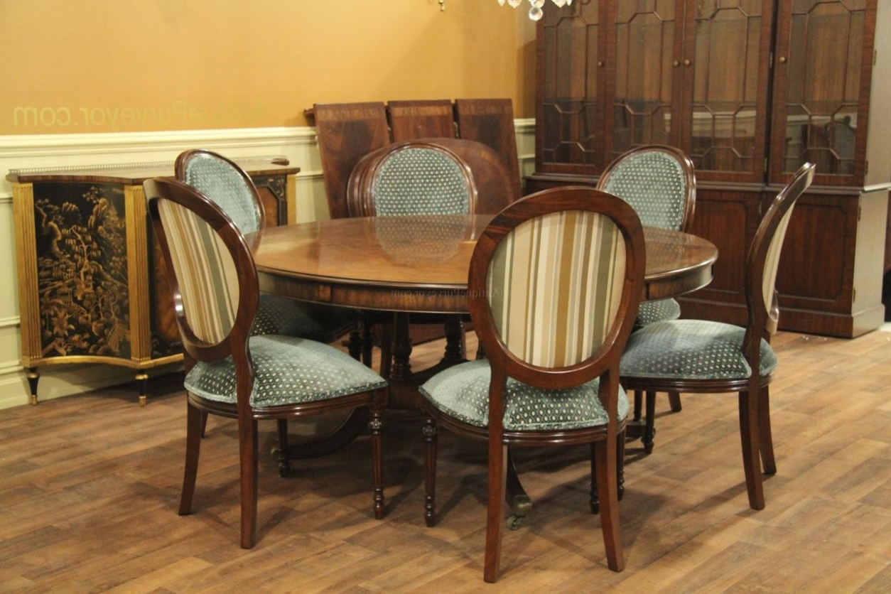 6 Seater Round Dining Tables With Well Known Dining: Dining Table Set 6 Seater Round And Chairs Six Kitchen 4 (Gallery 3 of 25)