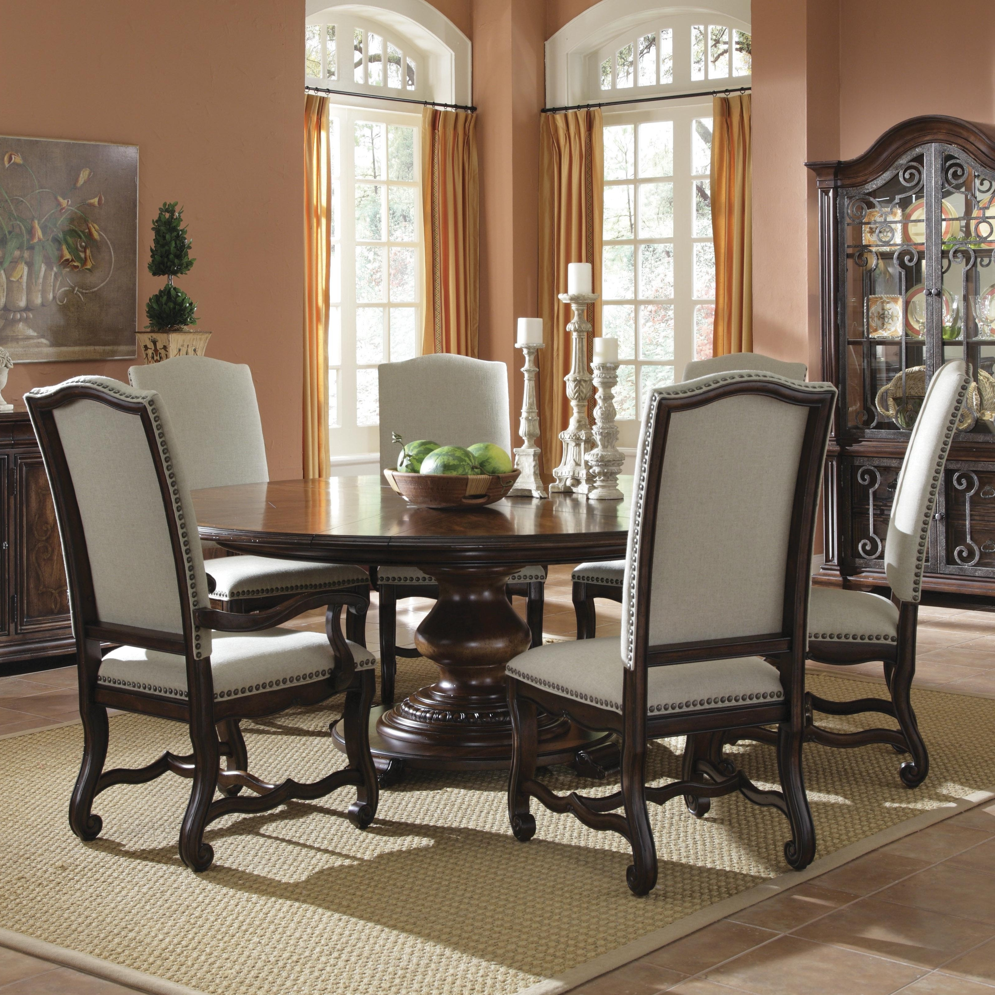 6 Seater Round Dining Tables Within Best And Newest Decorating Nice Dining Table Set 6 Seater Formal Room Ideas Casual (View 21 of 25)