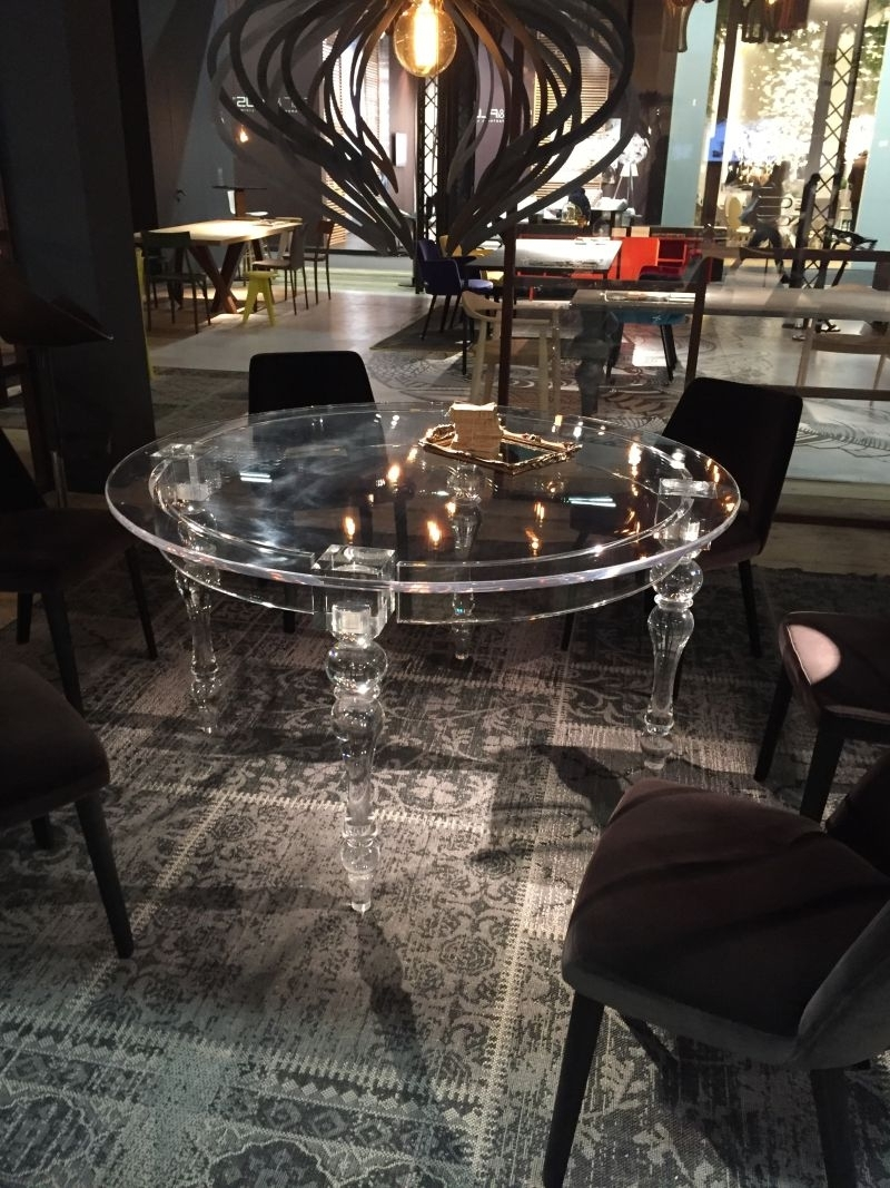 7. A Trip Into The World Of Stylish Dining Tables Acrylic Dining Inside Popular Acrylic Dining Tables (Gallery 20 of 25)