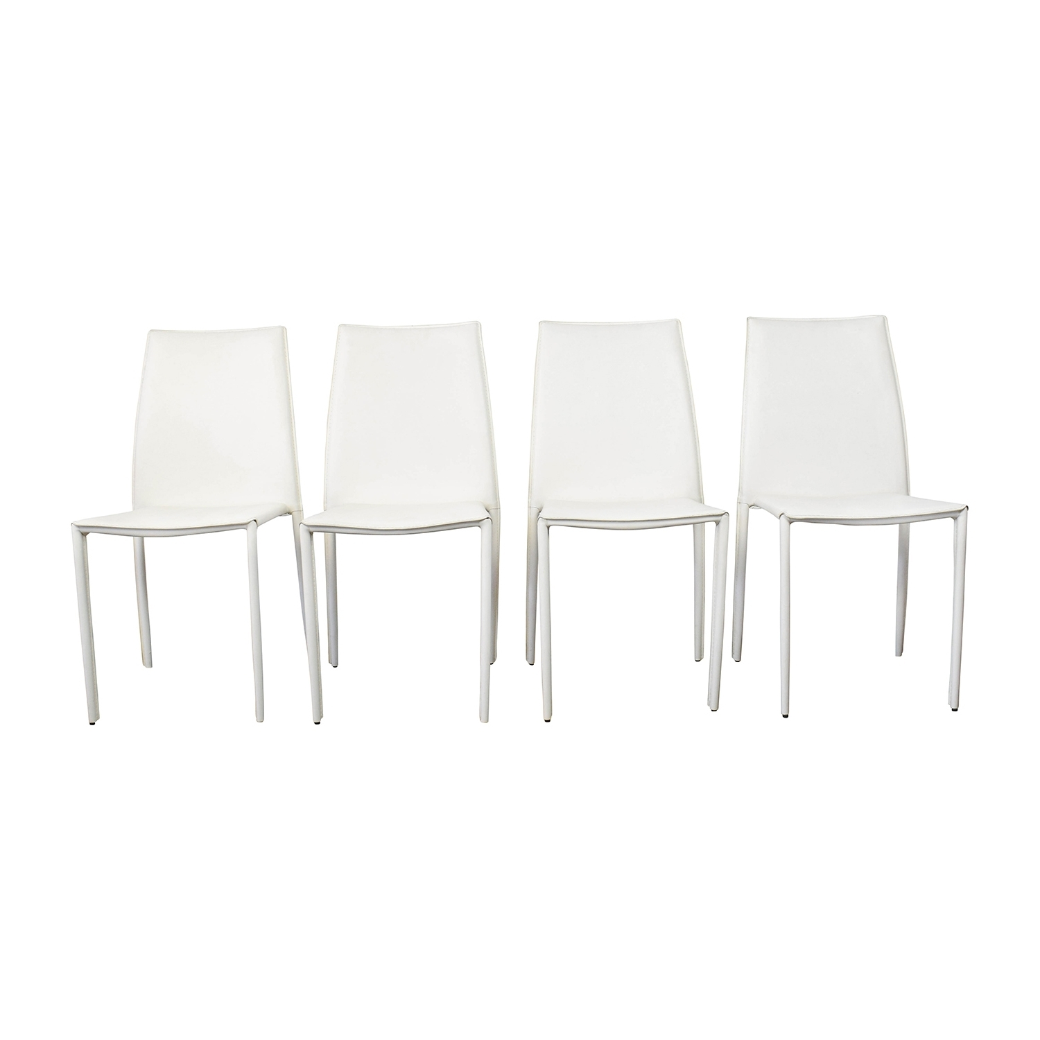 [%77% Off – All Modern All Modern White Leather Dining Chairs / Chairs Pertaining To Fashionable White Leather Dining Chairs|White Leather Dining Chairs With Most Recent 77% Off – All Modern All Modern White Leather Dining Chairs / Chairs|Most Current White Leather Dining Chairs Pertaining To 77% Off – All Modern All Modern White Leather Dining Chairs / Chairs|Newest 77% Off – All Modern All Modern White Leather Dining Chairs / Chairs With White Leather Dining Chairs%] (View 1 of 25)