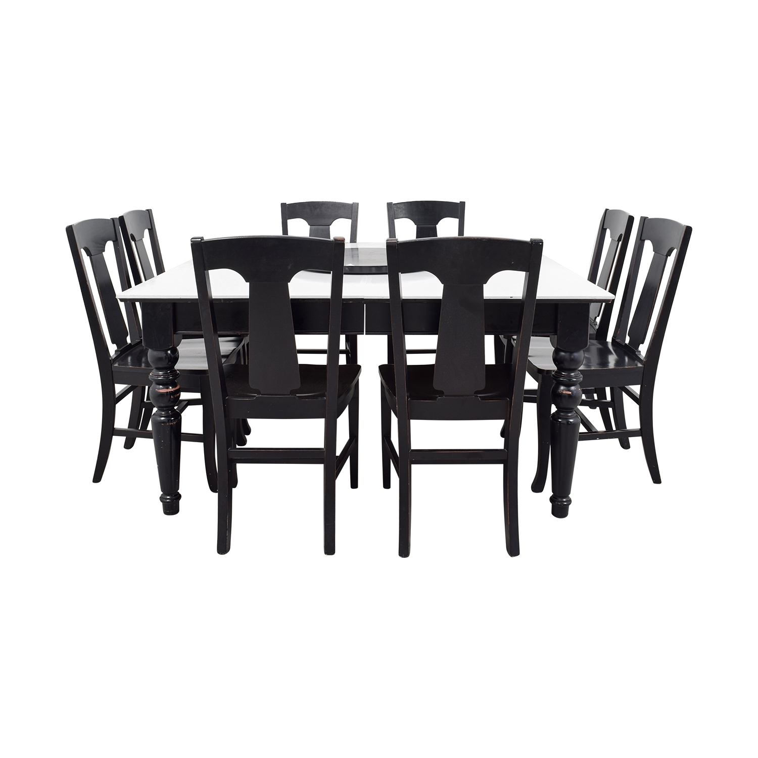 [%79% Off – Pottery Barn Pottery Barn White And Black Extendable Inside 2017 Black Extendable Dining Tables And Chairs|Black Extendable Dining Tables And Chairs With Trendy 79% Off – Pottery Barn Pottery Barn White And Black Extendable|Current Black Extendable Dining Tables And Chairs In 79% Off – Pottery Barn Pottery Barn White And Black Extendable|Recent 79% Off – Pottery Barn Pottery Barn White And Black Extendable Throughout Black Extendable Dining Tables And Chairs%] (View 20 of 25)