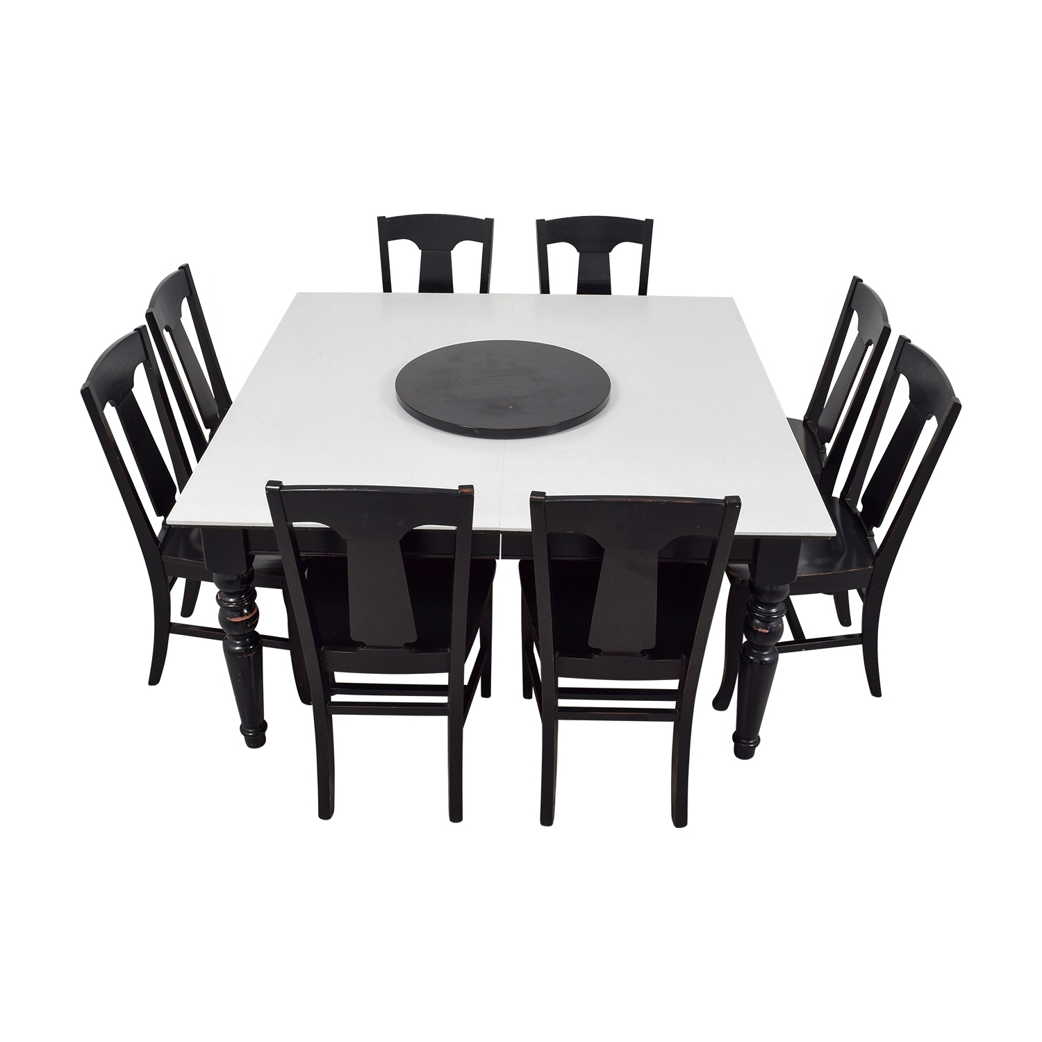 [%79% Off – Pottery Barn Pottery Barn White And Black Extendable With Regard To Favorite Black Extendable Dining Tables Sets|Black Extendable Dining Tables Sets With Regard To Latest 79% Off – Pottery Barn Pottery Barn White And Black Extendable|Well Liked Black Extendable Dining Tables Sets Intended For 79% Off – Pottery Barn Pottery Barn White And Black Extendable|Widely Used 79% Off – Pottery Barn Pottery Barn White And Black Extendable Within Black Extendable Dining Tables Sets%] (View 20 of 25)