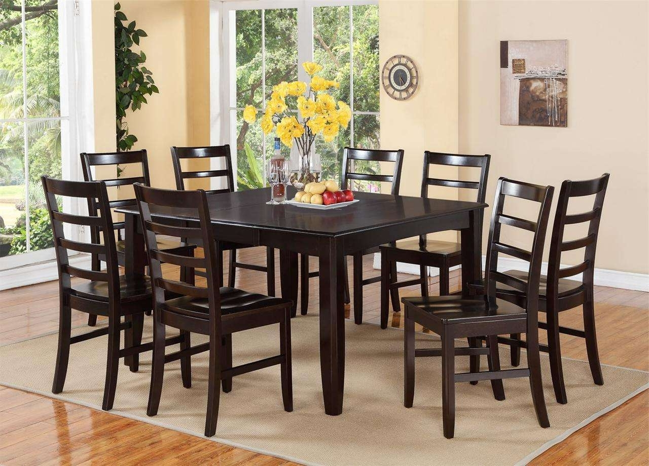 8 Chairs Dining Tables intended for Most Recent Chair Dining Set Dining Room Table And 8 Chairs On Glass Dining