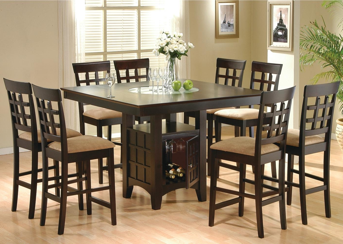 8 Chairs Dining Tables pertaining to Most Popular 8 Chair Dining Room Set - Www.cheekybeaglestudios