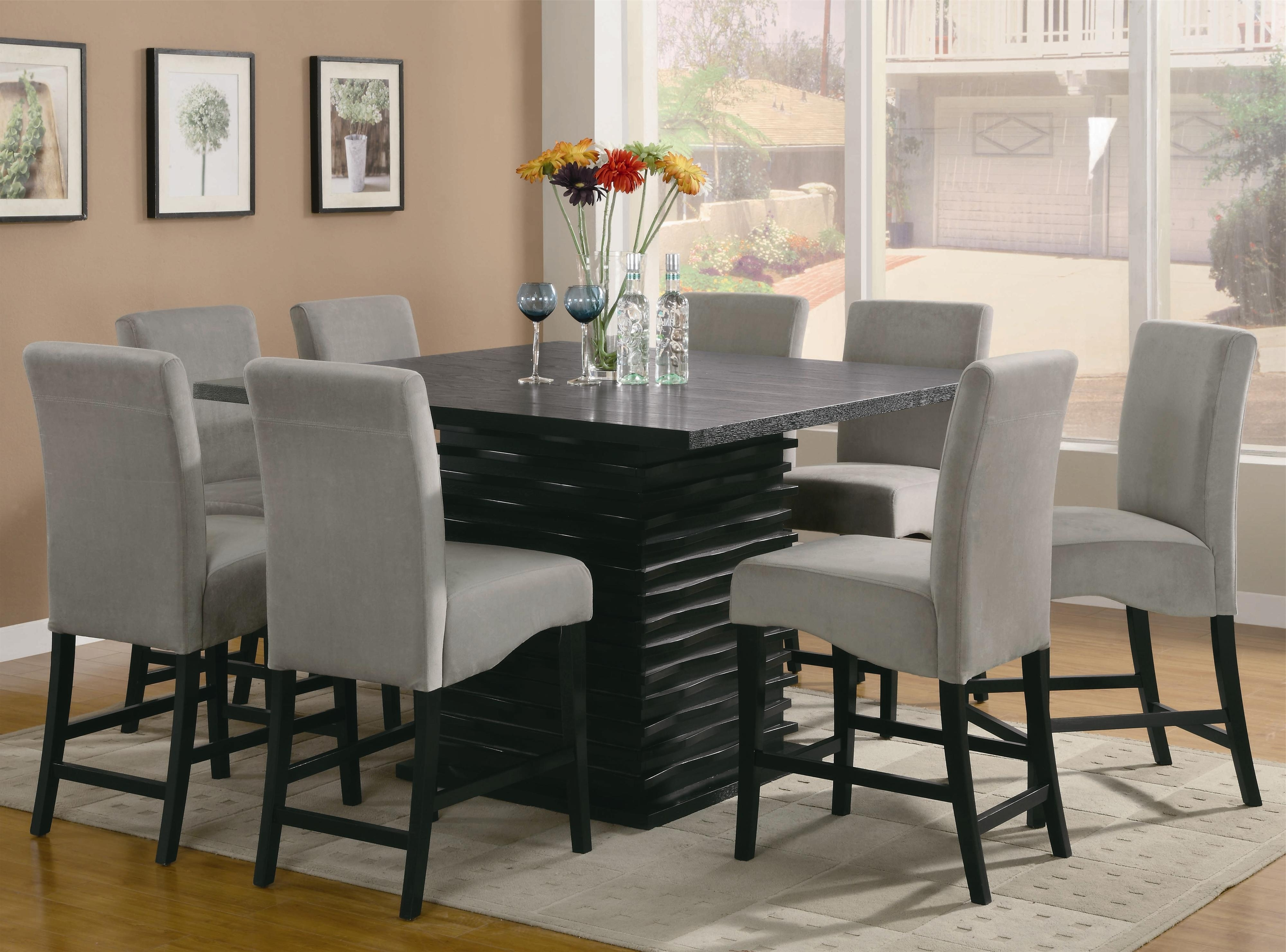 8 Chairs Dining Tables With Regard To Best And Newest Coaster Stanton 9 Piece Table And Chair Set (View 7 of 25)
