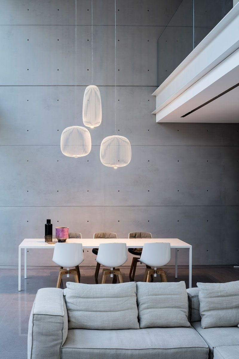 8 Lighting Ideas For Above Your Dining Table // Three Pendant Lights For Current Dining Lights Above Dining Tables (Gallery 6 of 25)