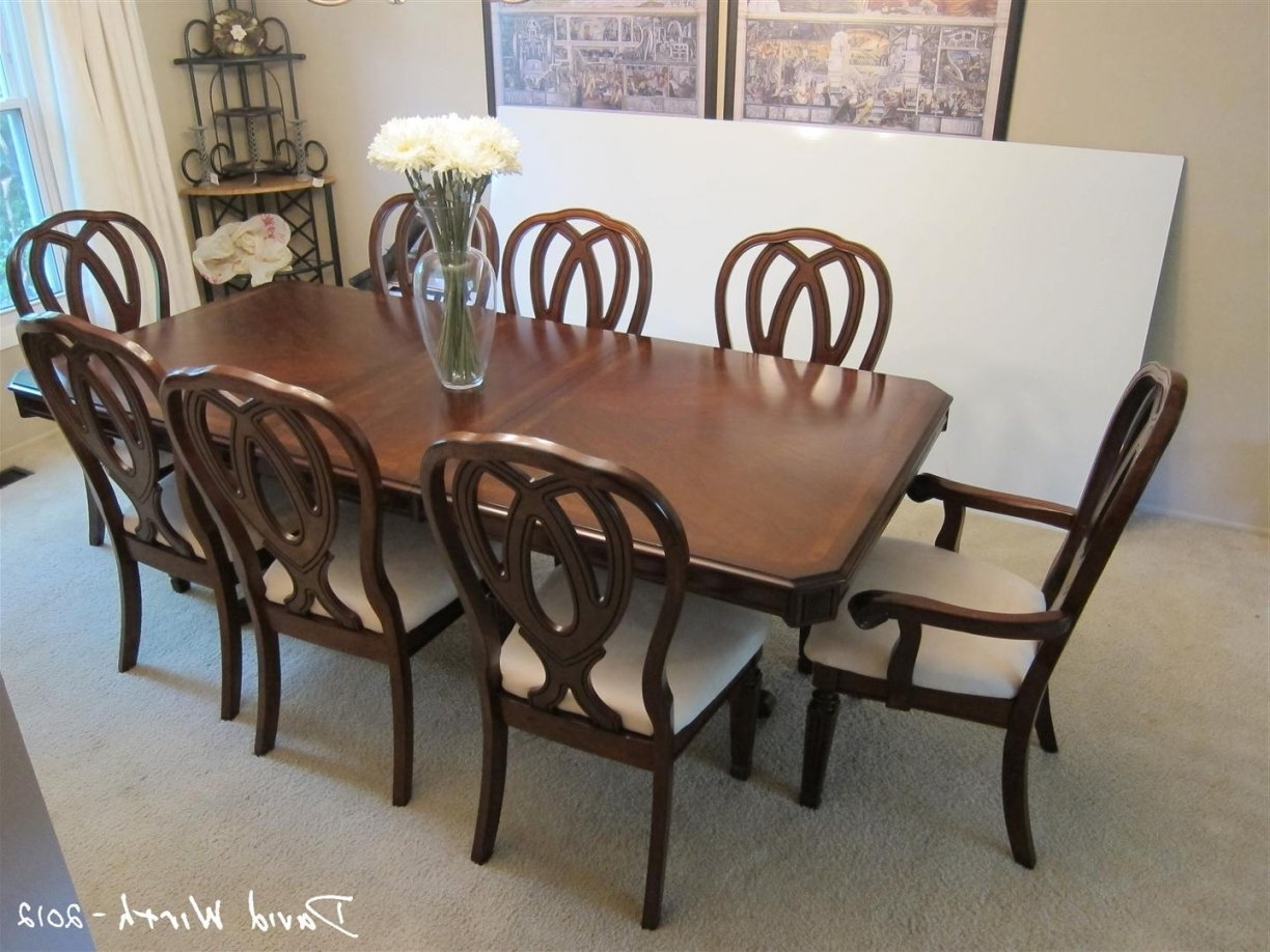 8 Seat Dining Table And Chairs White Chair Oak For Sale With Clear with regard to Most Recent Dining Tables And 8 Chairs For Sale