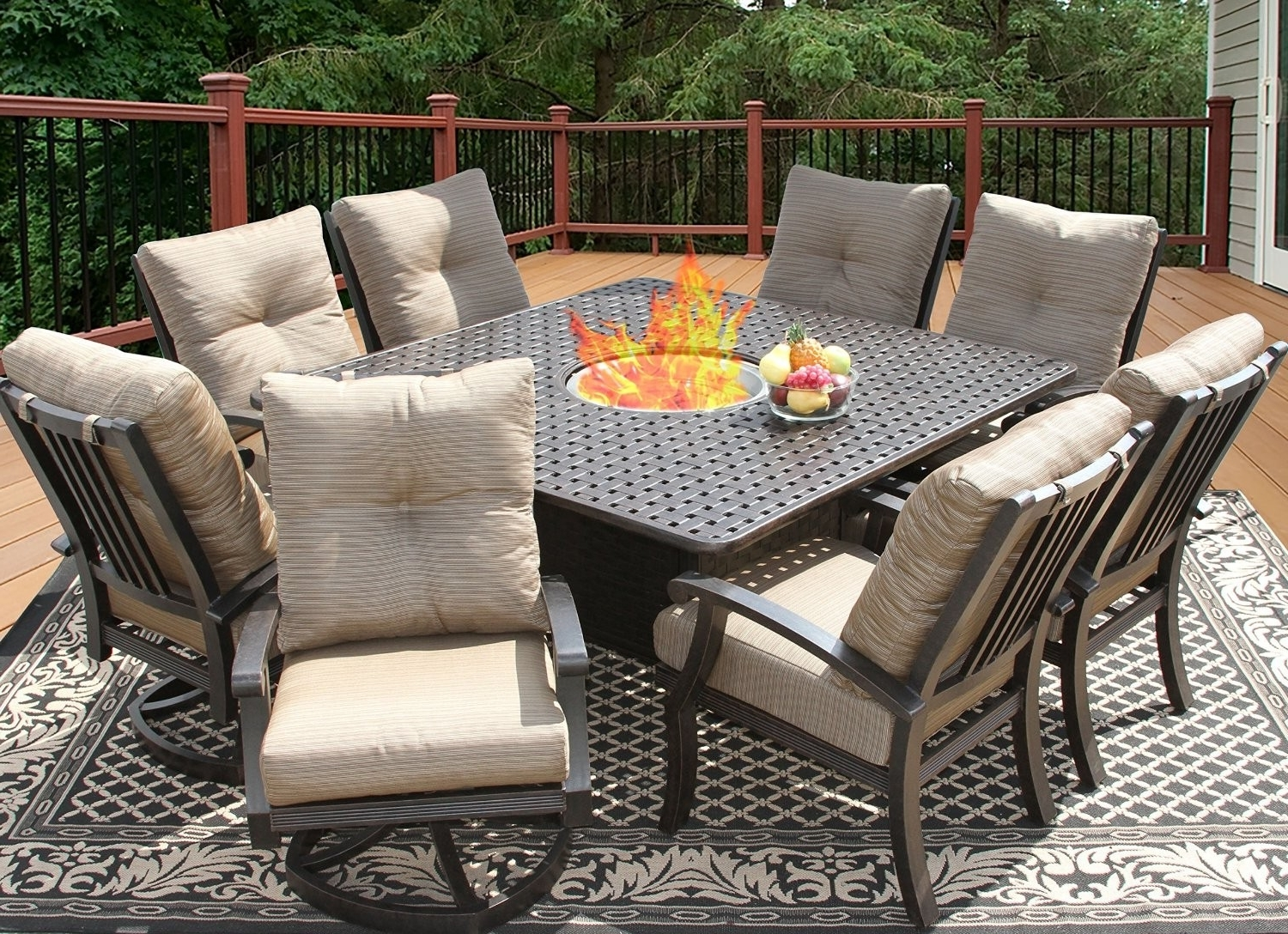 8 Seat Outdoor Dining Tables in Preferred Outdoor Dining Tables For 8 - Lisaasmith