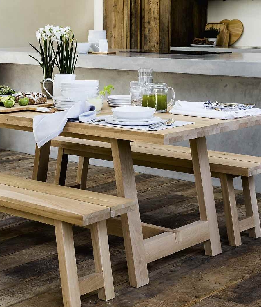 8 Seater Oak Dining Tables inside Trendy Oak Dining Table 6-8 Seater