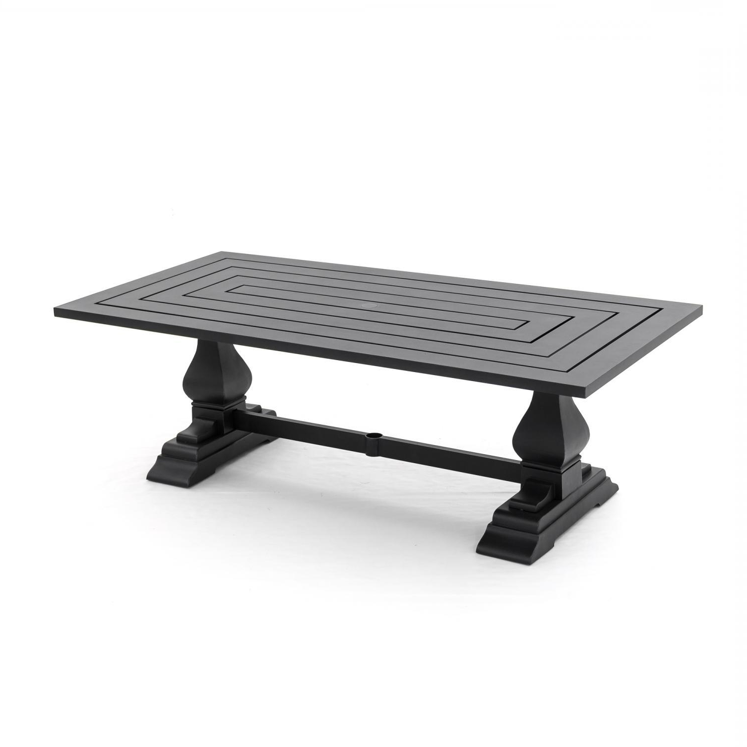87 Inch Dining Tables pertaining to Best and Newest St. Charles 87 X 42-Inch Cast Aluminum Rectangular Patio Dining