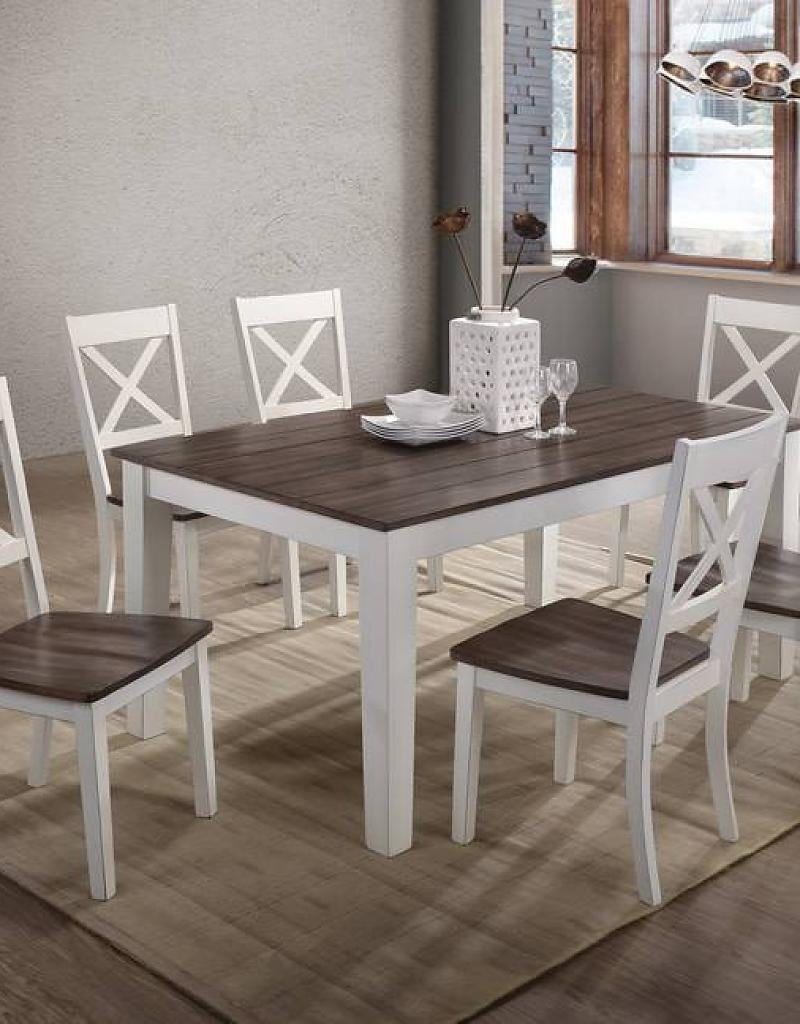 A La Carte Rectangular Farmhouse Dining Table W/ 6 Chairs – Bargain With 2017 6 Chairs Dining Tables (Gallery 20 of 25)
