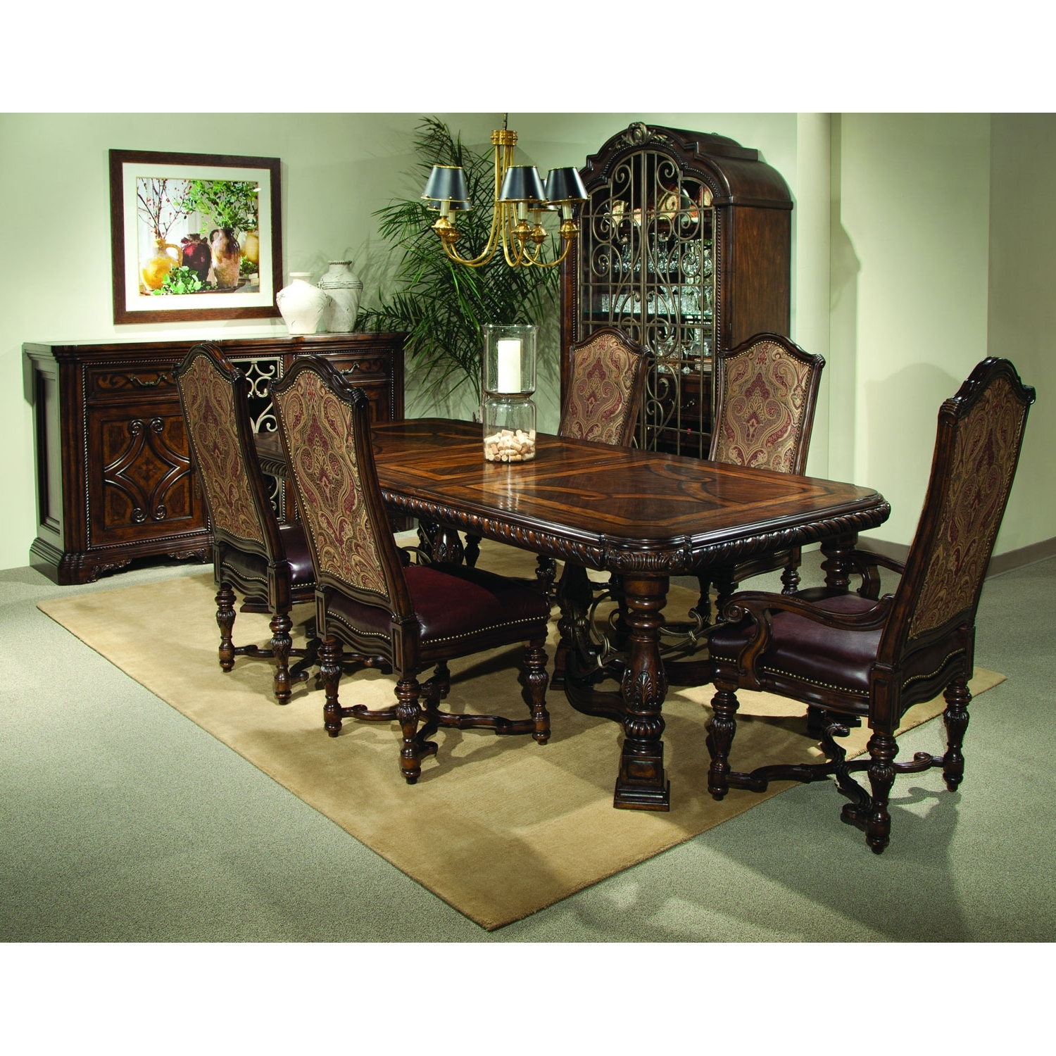 A.r.t. Furniture Valencia Trestle Dining Table 209221 2304 (Gallery 7 of 25)