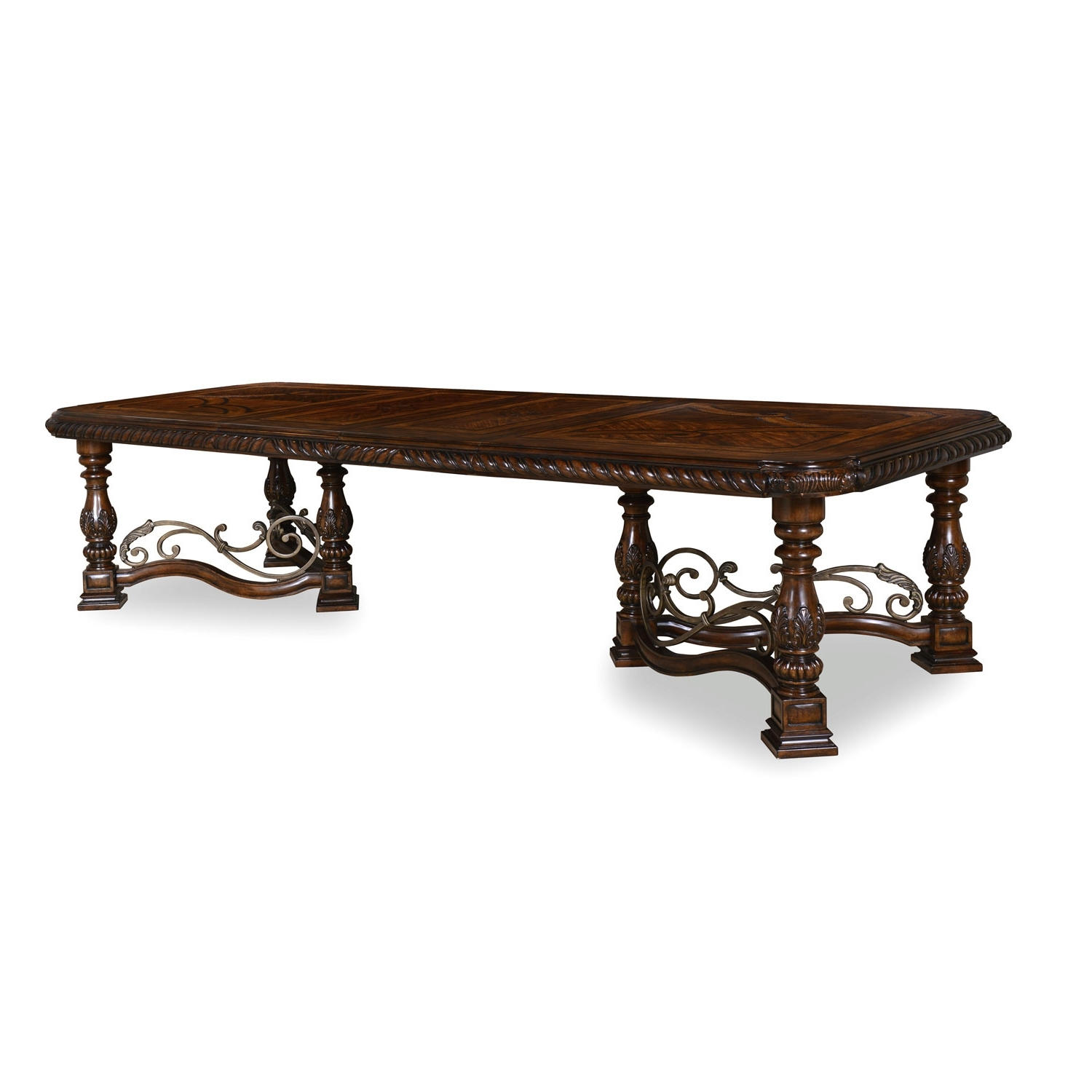 A.r.t. Furniture Valencia Trestle Dining Table 209221 2304 (Gallery 4 of 25)