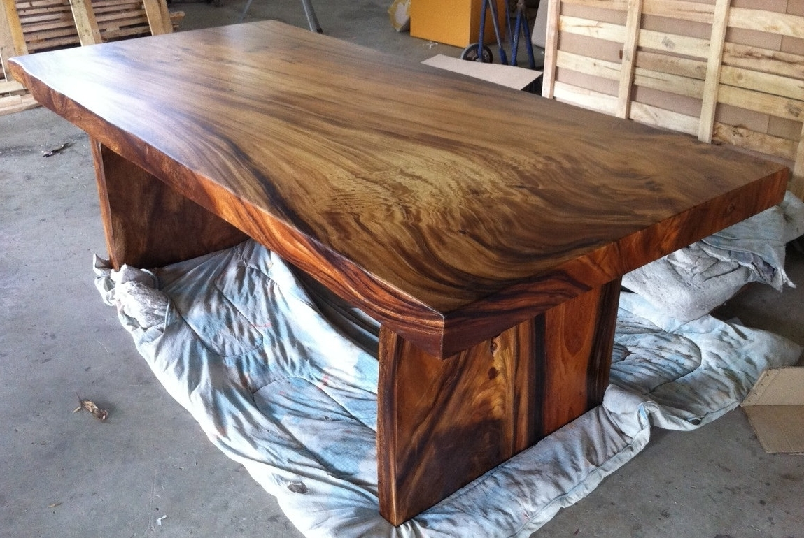 Acacia Dining Tables Within Current Live Edge Dining Table Reclaimed Solid Slab Acacia Wood (Gallery 15 of 25)
