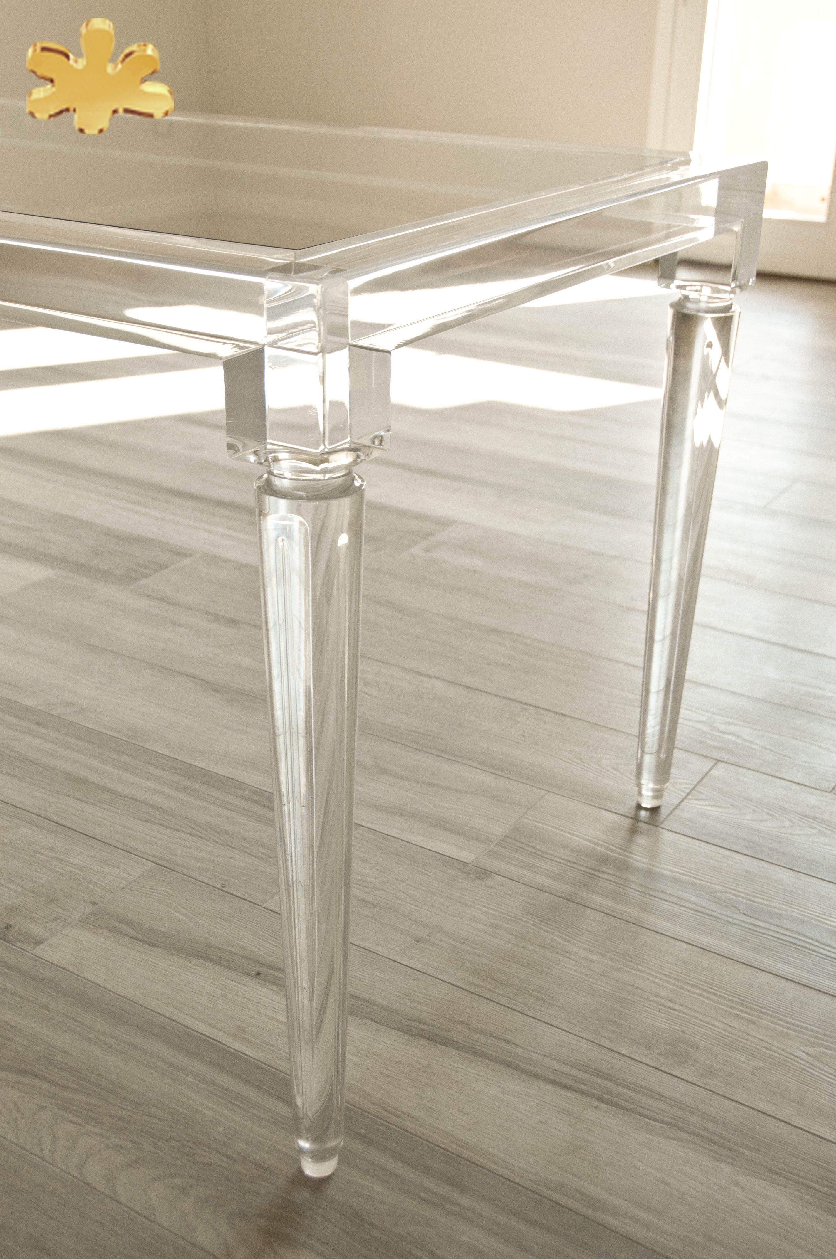 Acrylic Dining Tables Intended For 2017 Acrylic Furniture – Lucite Acrylic Dining Table – Tavoli Pranzo In (Gallery 1 of 25)