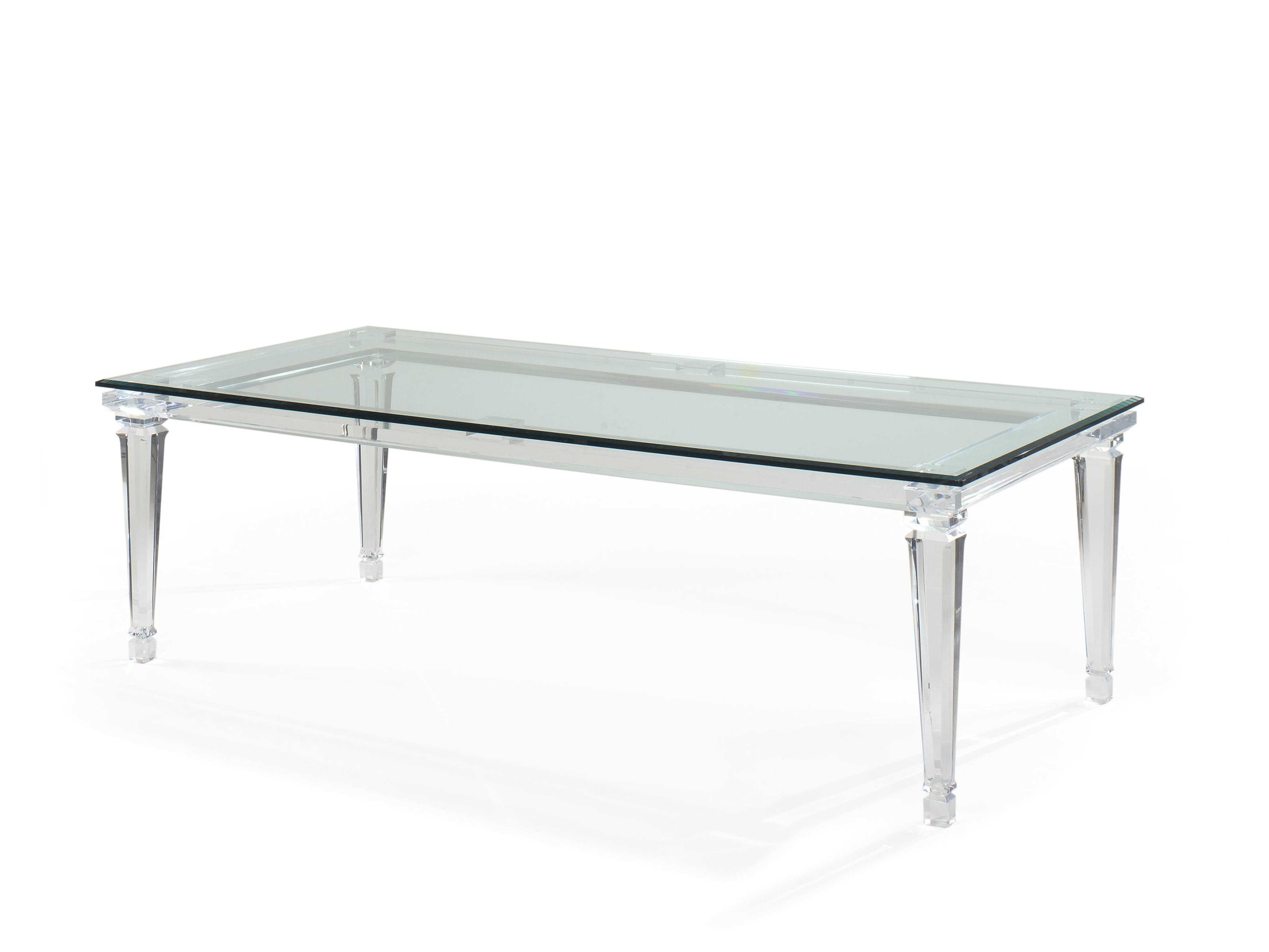 Acrylic Dining Tables Pertaining To Most Up To Date E.j. Victor Randall Tysinger Sancerre Acrylic 95'' X 47'' Dining (Gallery 10 of 25)