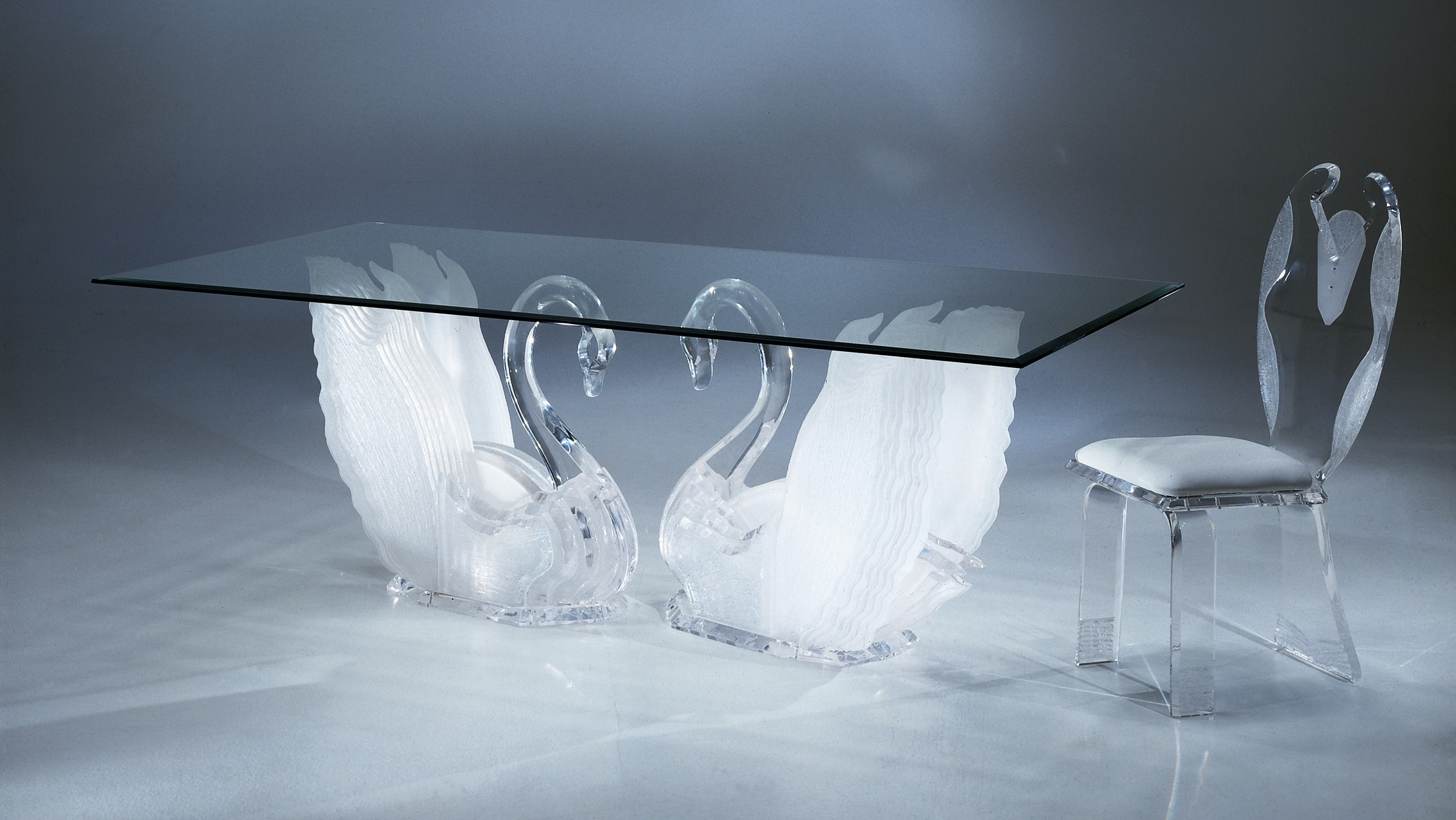 Acrylic Dining Tables Regarding Latest Legend Swan Dining Table, Acrylic Coffee Tables, Acrylic Furniture (View 7 of 25)
