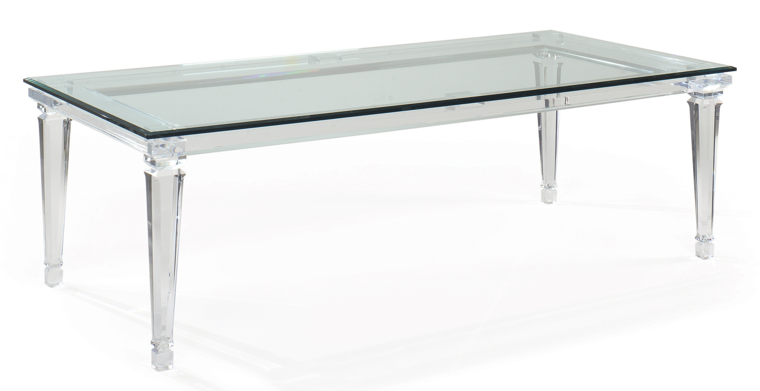 Acrylic Dining Tables Throughout Most Current Sancerre Acrylic Dining Table (View 3 of 25)