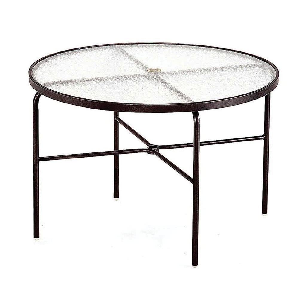 Acrylic Dining Tables With Well Liked Tradewinds 42 In. Java Acrylic Top Commercial Patio Dining Table Hd (Gallery 14 of 25)