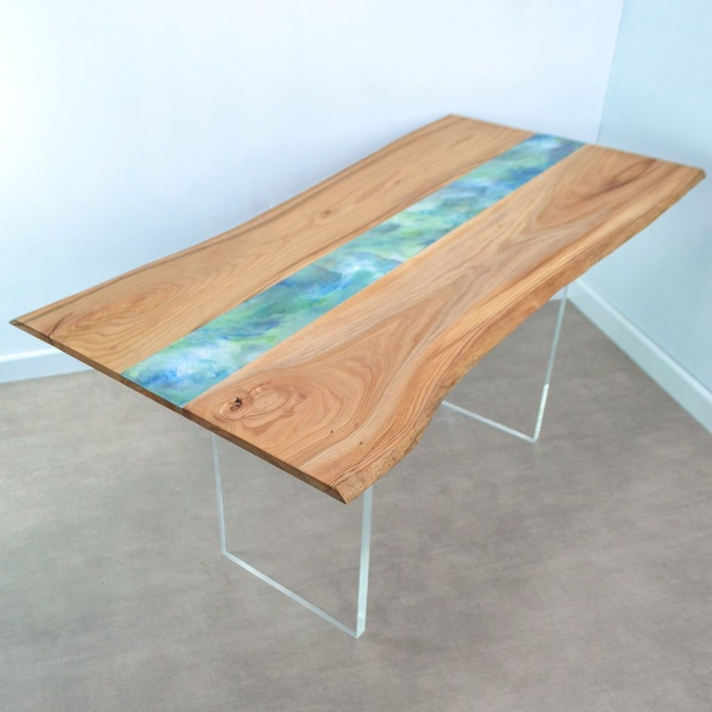 Acrylic Dining Tables Within Most Recent Live Edge Resin Art Dining Table On Clear Acrylic Legs Www (Gallery 6 of 25)