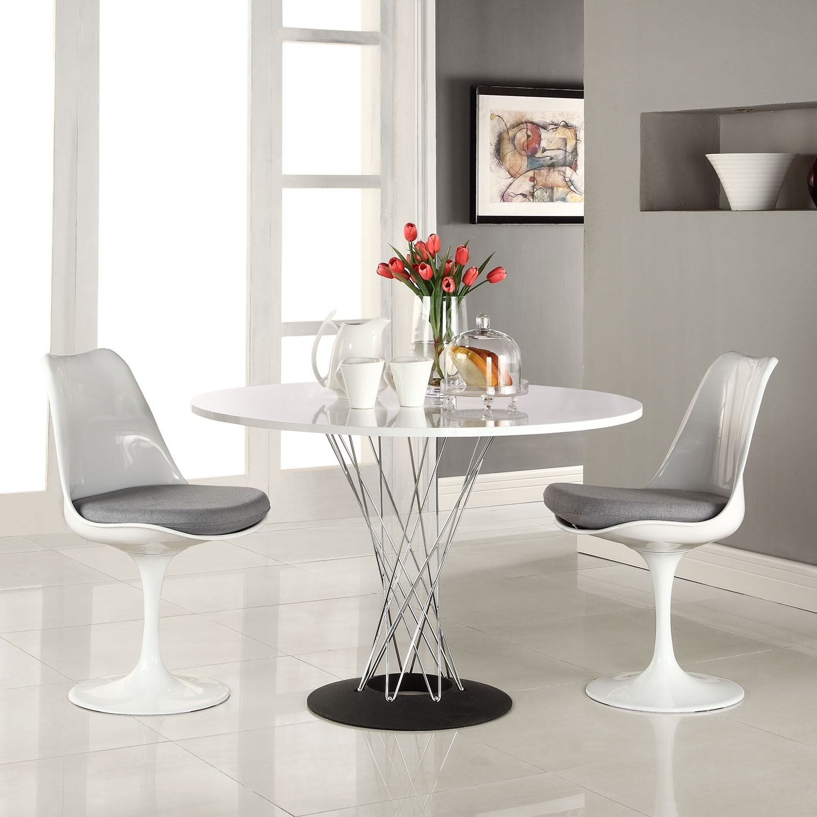 Acrylic Kitchen Table Fresh 15 White Round Table Design Ideas For Within 2017 Round Acrylic Dining Tables (View 6 of 25)
