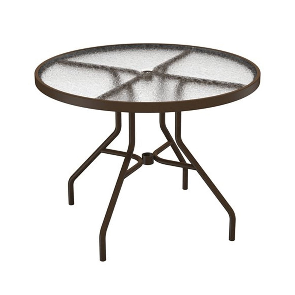"Acrylic Round Dining Tables Pertaining To Popular 36"" Acrylic Top Round Dining Table With Powder Coated Aluminum Frame (View 21 of 25)"